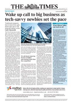 Reprint of The Times article 'Wake up call to big business as tech-savvy newbies set the pace'