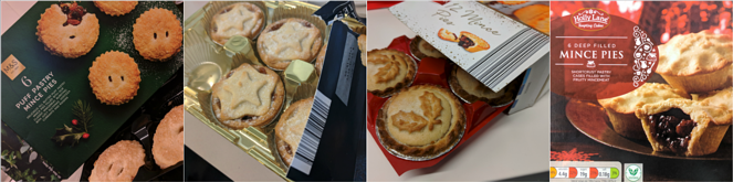 Selection Of Mince Pies Collage